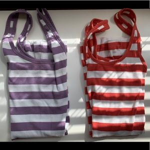 Colored Striped Tank Tops
